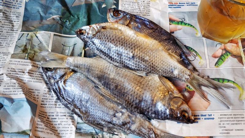 Оптимальный, по моему мнению, способ засолки и вяления рыбы, которая съедается, едва успев подсохнуть