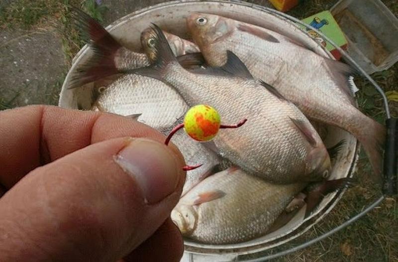 Донная рыбалка на пенопластовые шарики