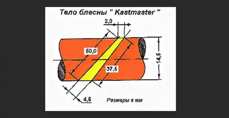 Самодельный Кастмастер — описание блесны, варианты изготовление и схемы