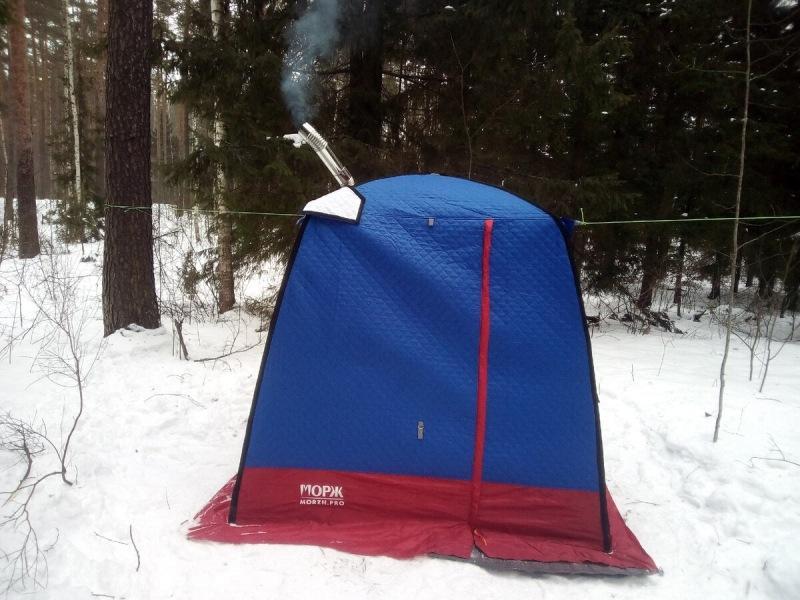 Ночевка в палатке зимой - Как согреться без печки в лесу?  Все возможные варианты
