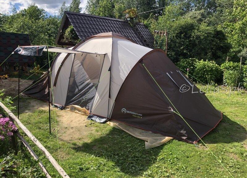 Неожиданный минус двухкомнатной палатки