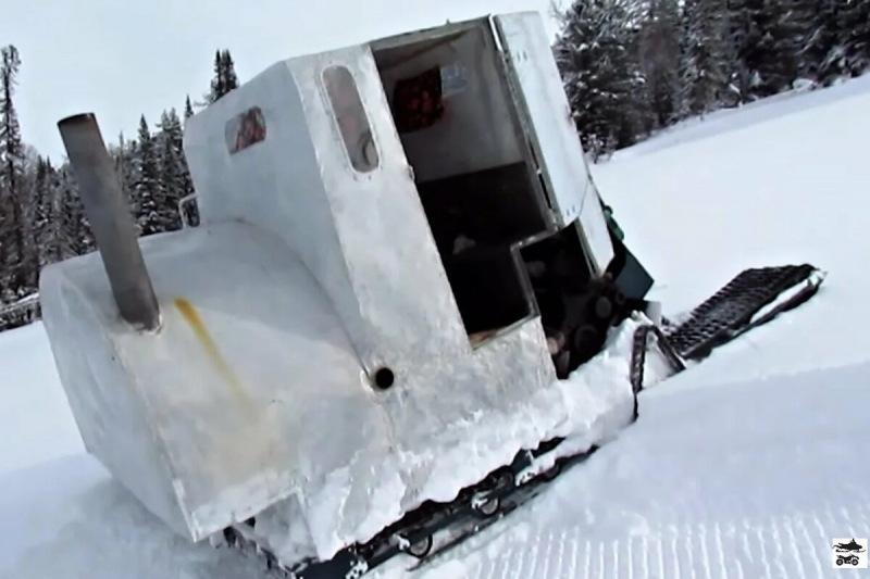 Снегоход-монстр с Алтая. 6 гусениц от Бурана, кунг с кроватью и печкой!