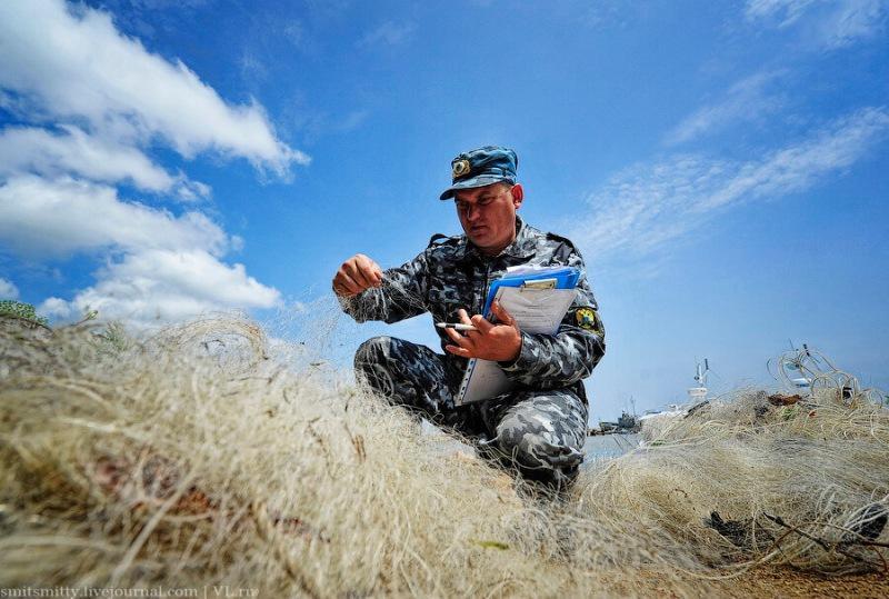 Госинпектора Рыбоохраны наградили орденом Мужества и как Вы понимаете, не за протоколы пенсионерам