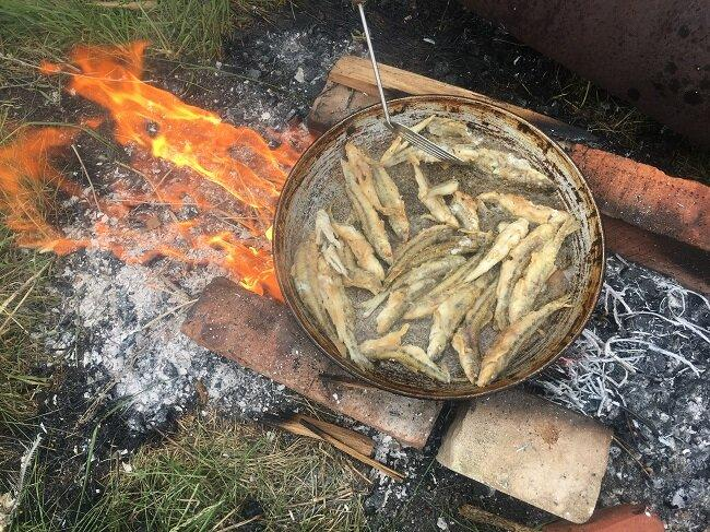 Как приготовить пескарей по-рыбацки. 2 способа. Вкуснее не придумать