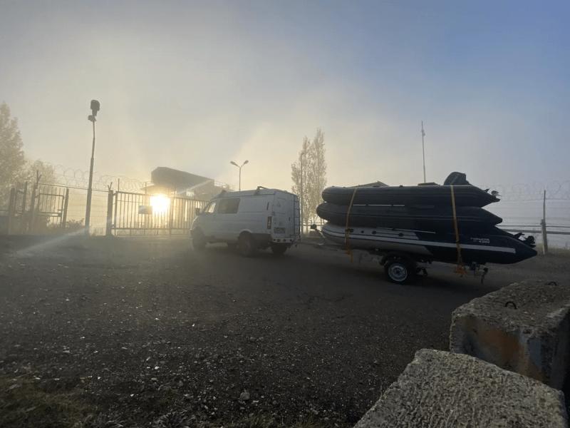 Расход СОБОЛЯ 4х4 с прицепом и тремя лодками